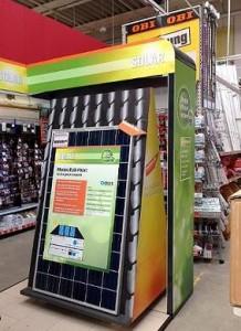 Zonnepanelen in de bouwmarkt