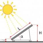 Hoogte zonnepanelen berekenen