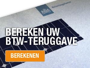 BTW zonnepanelen teruggave berekenen